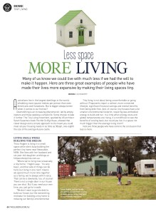 WellBeing Magazine: Less Space More Home